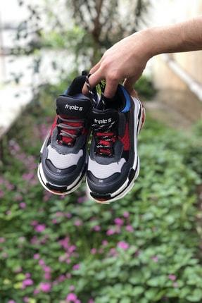 NOVELYA Kırmızı Kalın Taban Erkek Sneaker Ayakkabı 1