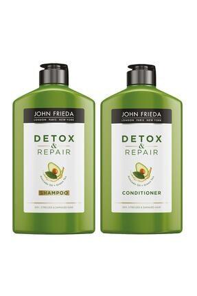 John Frieda Detoks Etkili Onarıcı Bakım Şampuanı 250 ml + Bakım Kremi 250 ml 5037156285401 0