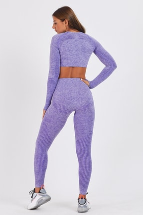 Gymwolves Dikişsiz Spor Tayt | Purble | Seamles Leggings | Activated Serisi 2