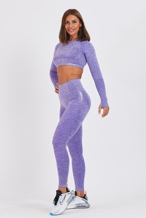 Gymwolves Dikişsiz Spor Tayt | Purble | Seamles Leggings | Activated Serisi 3