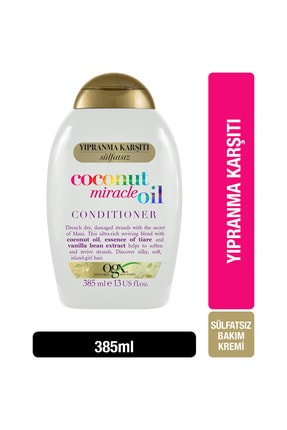 OGX Yıpranma Karşıtı Coconut Miracle Oil Sülfatsız Bakım Kremi 385 ml 0