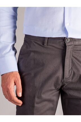 Dufy Antrasit Büyük Beden Düz Erkek Pantolon - Battal 1