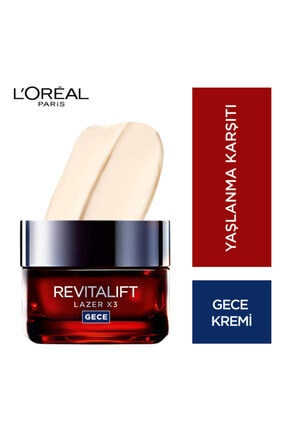 L'Oreal Paris L'oréal Paris Revitalift Lazer X3 Yoğun Yaşlanma Karşıtı Gece Bakım Kremi 1