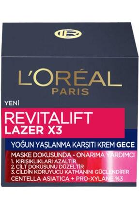 L'Oreal Paris L'oréal Paris Revitalift Lazer X3 Yoğun Yaşlanma Karşıtı Gece Bakım Kremi 2