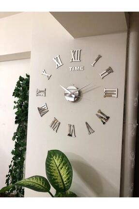 stilinbu Metal Göbek 3d Romen Rakamlı Büyük Duvar Saati 0