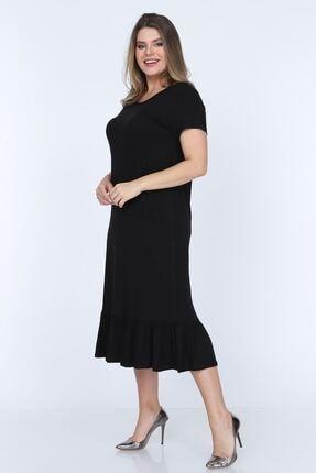 Modayız Siyah Fırfırlı Elbise 11b-0703 1