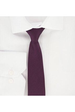 Elegante Cravatte Mürdüm Renk Armürlü Dokuma Kravat Ve Mendil 1