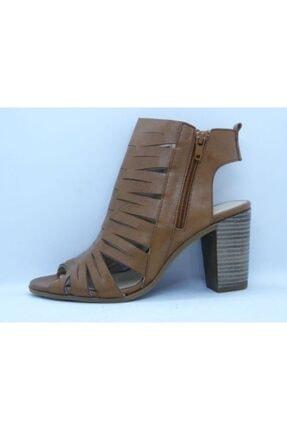 VİNİCCİ AYAKKABI Kadın Kahve Hakiki Deri Açık Ayakkabı 0
