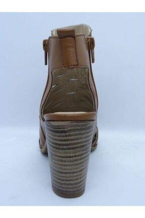 VİNİCCİ AYAKKABI Kadın Kahve Hakiki Deri Açık Ayakkabı 1