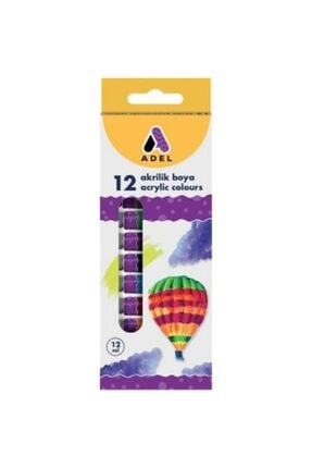 Adel Akrilik Boya 12 Li 12 ml Tüp 0