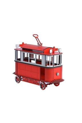 Pershang Ahşap Nostaljik Taksim Tramvay 3 Boyutlu Yapboz 2