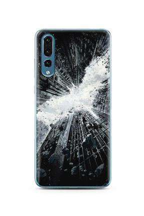 Spoyi Gökdelen Tasarım Süper Şeffaf Silikon Telefon Kılıfı Huawei P20 Pro 0