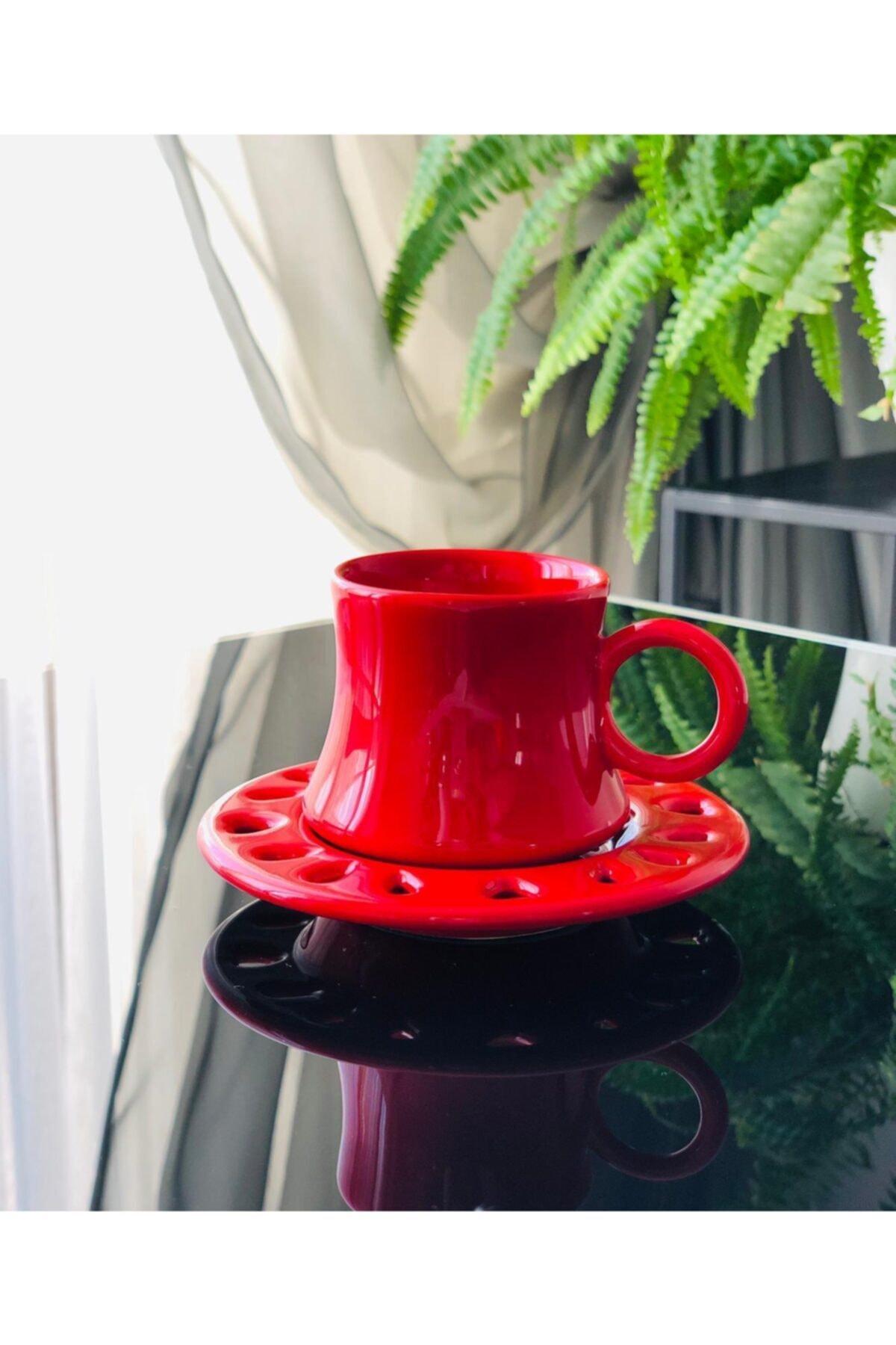 Kazan Model Tekli Fincan Kırmızı