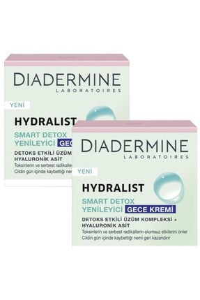 Diadermine Hydralist Detoks Yenileyici Gece Kremi 50 Ml. 2'li (üzüm Kompleksi-hyaluronik Asit) 0