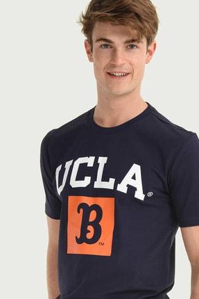 Ucla TUSTIN Lacivert Bisiklet Yaka Erkek T-shirt 1