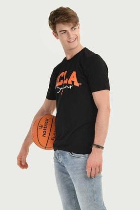 Ucla Siyah Bisiklet Yaka Erkek T-shirt 1