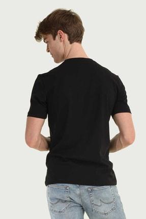 Ucla Siyah Bisiklet Yaka Erkek T-shirt 2