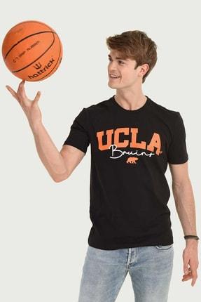 Ucla Siyah Bisiklet Yaka Erkek T-shirt 3