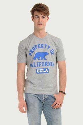 Ucla STANTON Gri Bisiklet Yaka Erkek T-shirt 4