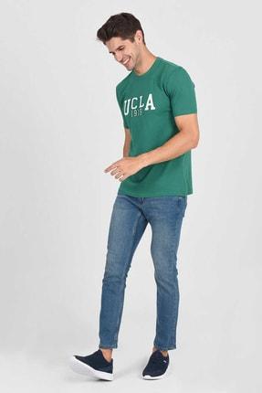 Ucla CABAZON Yeşil Bisiklet Yaka Baskılı Erkek Tshirt 1
