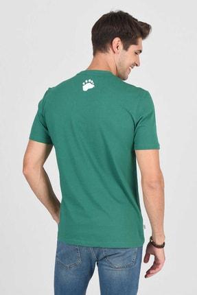 Ucla CABAZON Yeşil Bisiklet Yaka Baskılı Erkek Tshirt 3