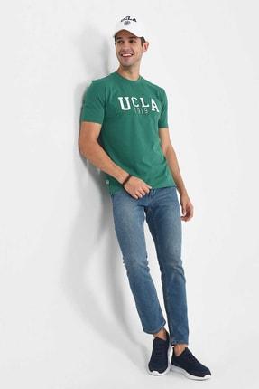 Ucla CABAZON Yeşil Bisiklet Yaka Baskılı Erkek Tshirt 4