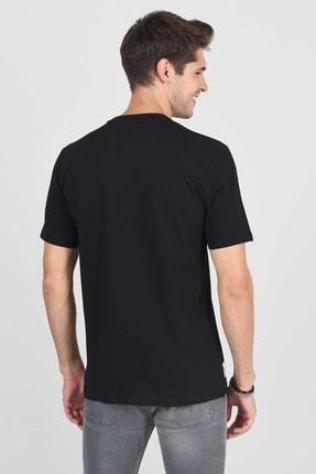 Ucla ADELANTO Siyah Bisiklet Yaka Baskılı Erkek Tshirt 4