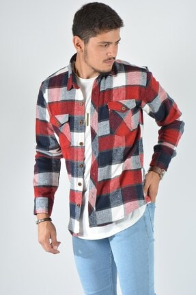 Terapi Men Erkek Kareli Oduncu Gömleği 20k-4300549 Kırmızı 0