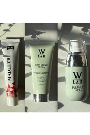 W-Lab Kozmetik W-lab Whitening Cream Beyazlatıcı Krem + Kükürt Krem + Madeleb Krem 0