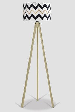 MyLightConcept Dekoratif Özel Tasarım Dijital Baskılı Yeni Trend Kumaş Lambader Naturel Ayak/mlc059 1