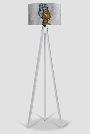 MyLightConcept Dekoratif Özel Tasarım Dijital Baskılı Yeni Trend Kumaş Lambader Beyaz Ayak/mlc060 1