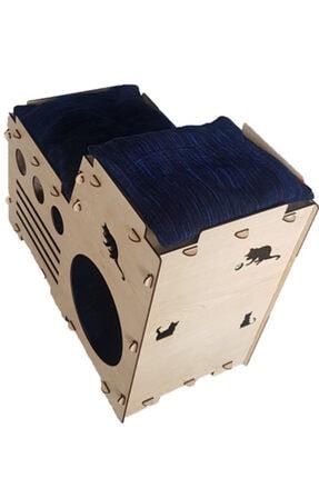 Taktakicat Konforlu Katlı Kedi Evi - Kedi Yuvası 2