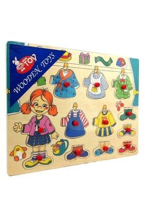 Wooden Toys Ahşap Kıyafet Giydirme Yapboz Puzzle Pazıl 2