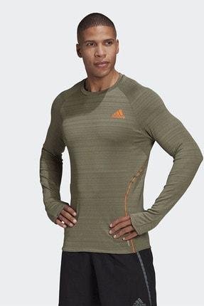 adidas ADI RUNNER LS Haki Erkek T-Shirt 101118193 0
