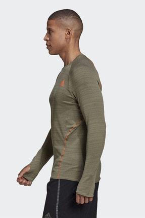 adidas ADI RUNNER LS Haki Erkek T-Shirt 101118193 1