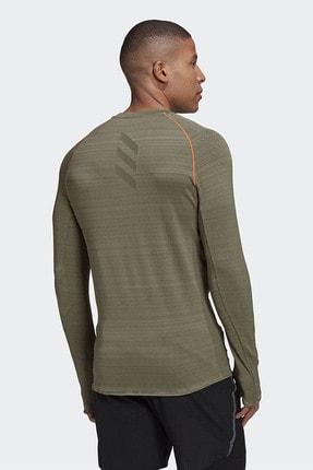 adidas ADI RUNNER LS Haki Erkek T-Shirt 101118193 2