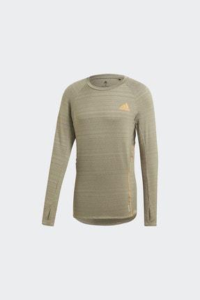 adidas ADI RUNNER LS Haki Erkek T-Shirt 101118193 4