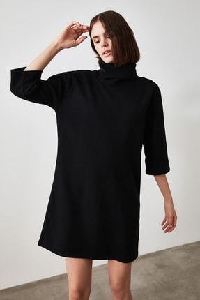 TRENDYOLMİLLA Siyah Selanik Örme Elbise TWOAW20EL1110 0