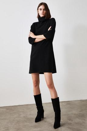 TRENDYOLMİLLA Siyah Selanik Örme Elbise TWOAW20EL1110 4