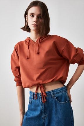 TRENDYOLMİLLA Tarçın Cep Detaylı  Basic Örme Sweatshirt TWOAW20SW0188 0