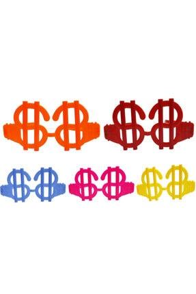 MGA SHOP Neon Renk 12 Adet Büyük Dolar Parti Gözlüğü 0
