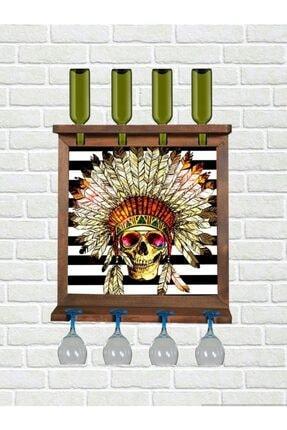 Bahat Ahşap Kayın Ağacı Tablolu Şaraplık Viski Bira Salon Bar Mutfak Duvar Dekoru 0