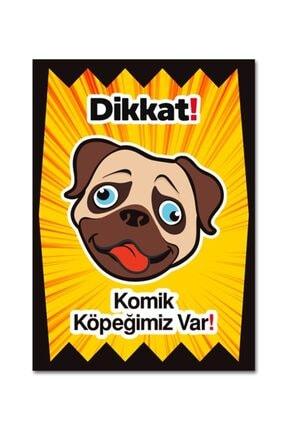 Ufuk Çizgisi Dikkat Komik Köpek Var Levhaları Özel Koleksiyon 10 cm X 15 cm Folyo Sticker 0