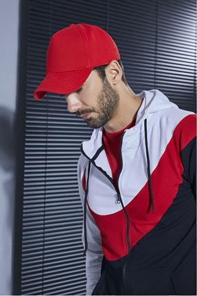 Sateen Men Erkek Kırmızı Şapka 1
