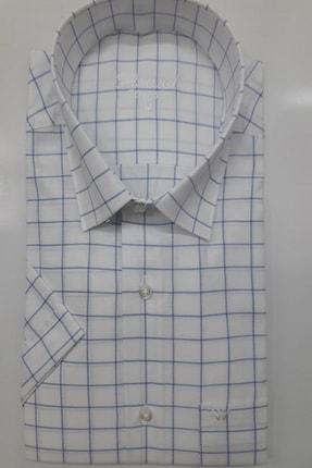 ASWEL Erkek Beyaz Kısa Kollu Cepli Gömlek 1