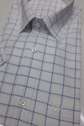 ASWEL Erkek Beyaz Kısa Kollu Cepli Gömlek 2