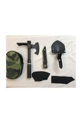evasist Katlanabilir Metal Kürek Balta Bıçak Çapa Testere Kamp Seti (tek Saplı) Multitools 0