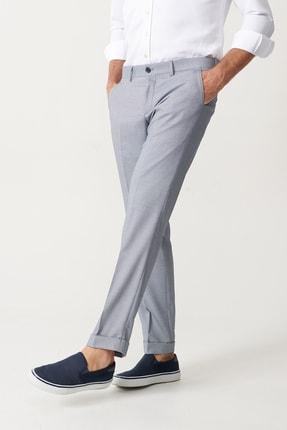 Altınyıldız Classics Erkek Mavi Slim Fit Desenli Pantolon 2