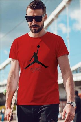 Tonny Mood Erkek Kırmızı Air Jordan 06 Nba Tshirt 0