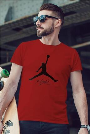Tonny Mood Erkek Kırmızı Air Jordan 06 Nba Tshirt 1